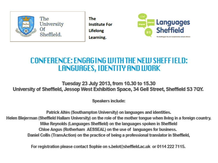 Sheffield talk
